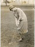 Princess Lokowitz Social Reformer and Enthusiastic Golfer Enjoys a Round Reproduction photographique