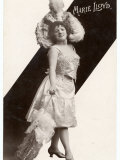 Marie Lloyd Music Hall Entertainer Wearing a Large Feathered Hat Photographic Print