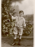 French Boy Demonstrates His Skill at Diabolo Photographic Print