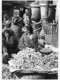 Market Women Offering Fruit and Vegetables in the Market at Kathmandu Nepal Photographic Print