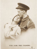 The Brave Soldier Must Leave His Girl to Fight for King and Country Photographic Print