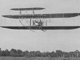 Wilbur Wright in Flight in France Photographic Print