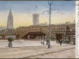 The Merseyside Overhead Railway, Pier Head Station Photographic Print
