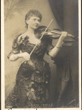 Lady Halle, Stage Name Norman Neruda, Plays the Violin Photographic Print
