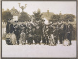 Unidentified Band in a Suburban Setting Probably in Northwest London Photographic Print