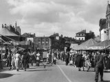 Scene at Boston Fair Lincolnshire Which is Held Annually in the Town Photographic Print