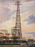 Part of Britain's National Grid This is the Sub-Station at Yoker Near Glasgow Scotland Photographic Print
