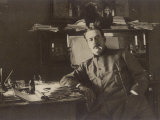 Giacomo Puccini Italian Composer in His Study Photographic Print