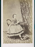 Girl and Desk 1860s Photographic Print