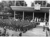 The Victory Parade: The Australian Army Contingent Passes the Saluting Base Photographic Print