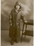 Boy in Rainwear 1930 Photographic Print