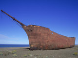 Shipwreck, Rio Gallegos, Argentina Photographic Print by Frank Perkins
