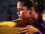 Portrait of Woman Gymnast Photographic Print by David Scott