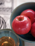 Still Life of Apples and Honey in Bowls Photographic Print by Sally Moskol