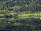 Lakeside Community, Fagernes, Norway Photographic Print by John Connell