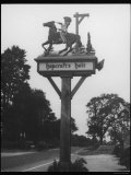 "The ""Stand and Deliver"" Sign of Hopcroft's Halt Oxfordshire England Photographic Print"