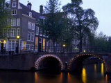 Golden Elbow, Herengracht, Amsterdam, Holland Photographic Print by Walter Bibikow