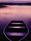 Boat on Otter Lake, Poconos, PA Fotografie-Druck von Rudi Von Briel