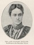 Princess Ka-Iulani, The Deposed Heiress to the Throne of Hawaii Photographic Print