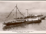 Express Paddle Steamer Plying the Thames Between Tower Bridge and Clacton Photographic Print