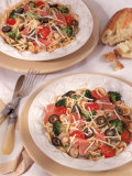 Pasta with Prosciutto and Tomatoes Photographic Print by Peter Ardito