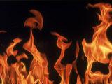 Close Up of Flames Reproduction photographique par John Dominis