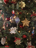 Christmas Ornaments on Tree, Photographic Print