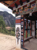 Detail of Stupa Outside of Paro, Bhutan Photographic Print by Bob Winsett
