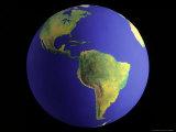 Globe, View of South America Photographic Print by Matthew Borkoski