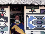 Ndebele Woman Wearing Beads, South Africa Photographic Print
