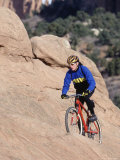 Man Mountain Biking, Garden of the Gods, CO Photographic Print by Bob Winsett