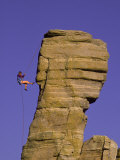 Rock Climbing, Hitchcock Pinnacle, Mt. Lemmon, AZ Photographic Print by Greg Epperson