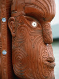 Maori Carving, New Zealand Photographic Print by Mitch Diamond