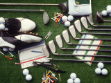 Collection of Golf Equipment; Shoes, Clubs, Etc Photographic Print by Karen M. Romanko