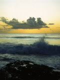 Waves Crashing on Beach Photographic Print by John James Wood