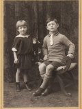 Brother and Sister 1924 Photographic Print