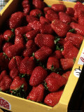 Carton of Strawberries Photographic Print by Gary Conner