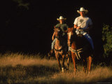 Couple Horseback Riding, Jack London State Park, CA Photographic Print by Robert Houser