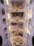 Ceiling of Church of St. Thomas, Prague, Czech Rep Photographic Print by Eric Horan