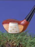 Golf Club Above Grass Photographic Print by John James Wood