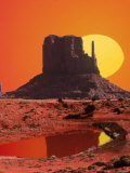 Monument Valley at Sunrise, Arizona Fotografie-Druck von Arnie Rosner