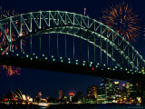Iron Bridge at Night, Sydney Photographic Print by Peter Walton
