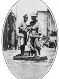On Traffic Duty in Flooded Hankow a Chinese Policeman Aided by a Soldier Stationed Photographic Print