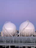 Methane Storage Spheres, Miami, FL Photographic Print by Rick Poley