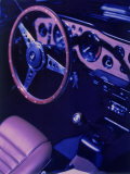 Car Dashboard, Steering Wheel, and Front Seat Photographic Print by Ernie Friedlander
