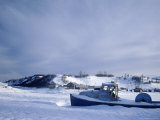 Abandoned Boat on Frozen Body of Water, AK Photographic Print by Jim Oltersdorf