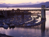 Burrard Bridge, Dusk, Vancouver, BC, Canada Photographic Print by Mark Gibson