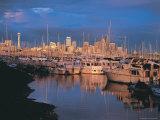 Elliot Bay Marina, Sunset, WA Photographic Print by Jim Corwin