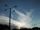 Mare's Tails, Clouds at Sunset & Lamp Post, FL Photographic Print by Pat Canova