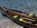 Coconuts in Canoe, Pequeno, Garifum, Cochino Photographic Print by Timothy O'Keefe